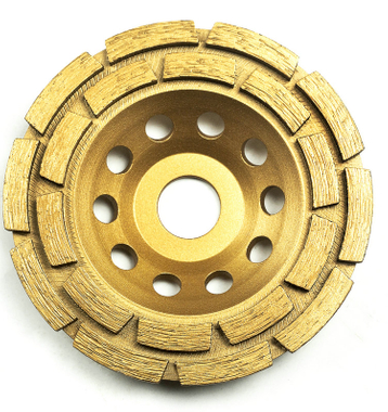 Double-row diamond-cup grinding-wheel